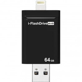 Внешний накопитель Photofast iFlashDrive Evo 64Gb для iPhone 5/5s/6/6+, iPad 5/mini, PC/Mac