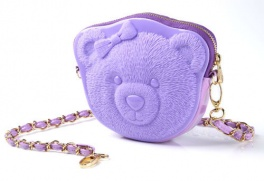 Сумка 3d ribbin bear 2 pastel purple Adamo