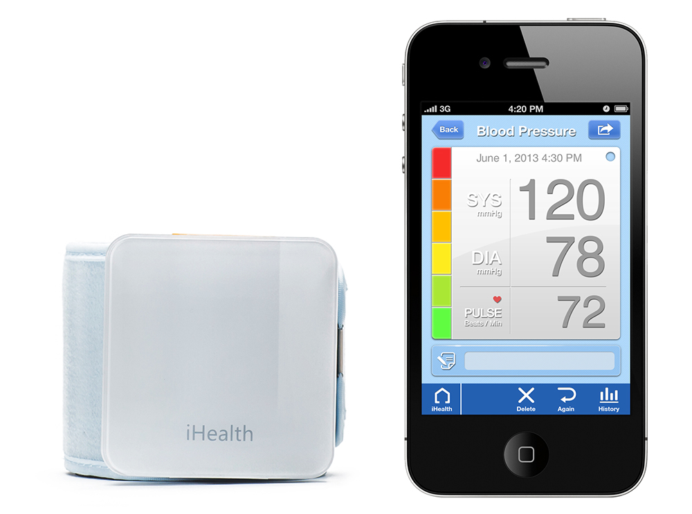 Браслет iHealth Wireless Blood Pressure Wrist Monitor bp7- тонометр на запястье для iPhone/iPod/iPad