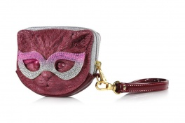Сумка 3d eye mask cat titanic red:gold + pink Adamo