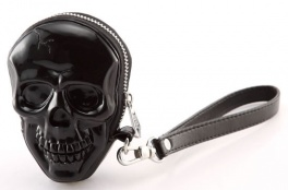 Сумка 3d skull black + nickel puller Adamo
