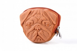 Сумка 3d pug dog light brown Adamo