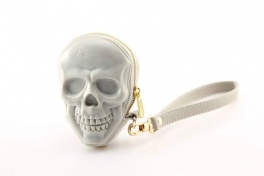 Сумка 3d skull cool grey + gold puller Adamo