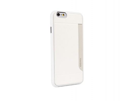 Ozaki o!coat 0.3+pocket case with card holder for iphone 6 - white