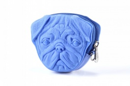 Сумка 3d pug dog light blue Adamo